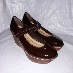 Dr Scholls Brown Degree Mary Jane Wedge Shoes 5.5M
